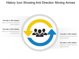 History Icon Showing Anti Direction Moving Arrows