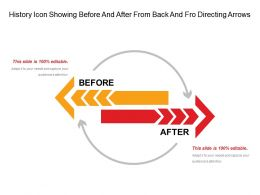 History Icon Showing Before And After From Back And Fro Directing Arrows