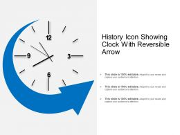 History Icon Showing Clock With Reversible Arrow