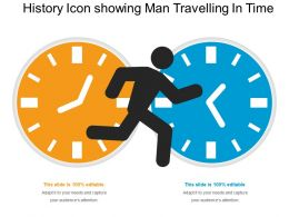 History Icon Showing Man Travelling In Time
