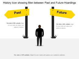 History Icon Showing Men Between Past And Future Hoardings