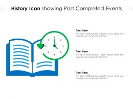 History Icon Showing Past Completed Events