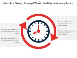 History Icon Showing Running Of Time In Sand Clock And Moving Arrows