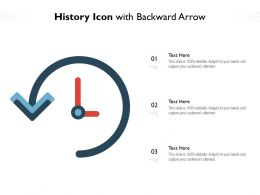 History Icon With Backward Arrow