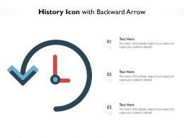 History Icon With Backward Arrow