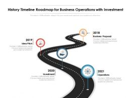 History Timeline Roadmap For Business Operations With Investment