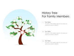 History Tree For Family Members