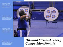 Hits And Misses Archery Competition Female