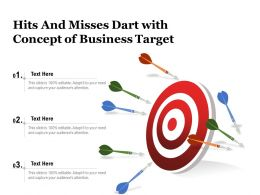 Hits And Misses Dart With Concept Of Business Target