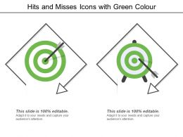 Hits And Misses Icons With Green Colour