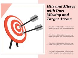 Hits And Misses With Dart Missing And Target Arrow