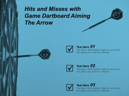 Hits And Misses With Game Dartboard Aiming The Arrow