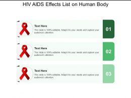 Hiv Aids Effects List On Human Body