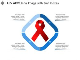 Hiv Aids Icon Image With Text Boxes