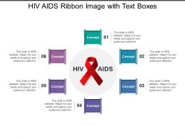 Hiv Aids Ribbon Image With Text Boxes