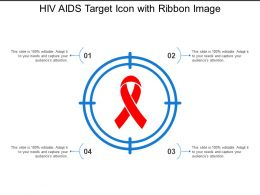 Hiv Aids Target Icon With Ribbon Image