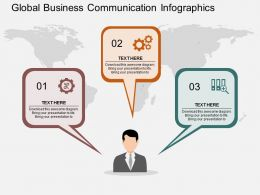 hj Global Business Communication Infographics Flat Powerpoint Design