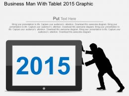 Hk Business Man With Tablet 2015 Graphic Flat Powerpoint Design