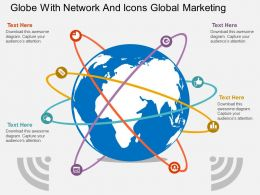 hk Globe With Network And Icons Global Marketing Flat Powerpoint Design
