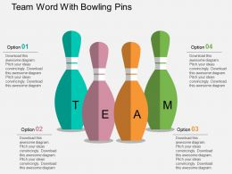Hk Team Word With Bowling Pins Flat Powerpoint Design