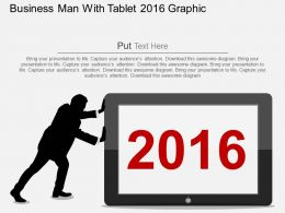 Hl Business Man With Tablet 2016 Graphic Flat Powerpoint Design