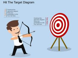 hl Hit The Target Diagram Flat Powerpoint Design
