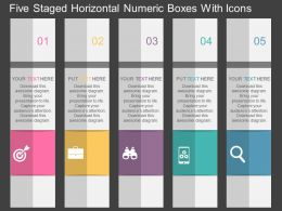 Hm Five Staged Vertical Numeric Boxes With Icons Flat Powerpoint Design