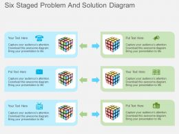 Hn Six Staged Problem And Solution Diagram Flat Powerpoint Design