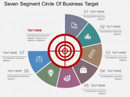 ho Seven Segment Circle Of Business Target Flat Powerpoint Design