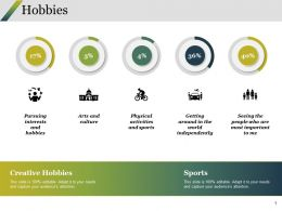 Hobbies Ppt Summary Backgrounds