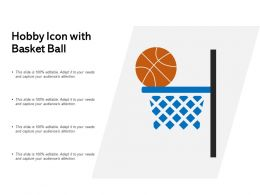 Hobby Icon With Basket Ball