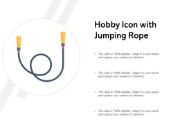 Hobby Icon With Jumping Rope