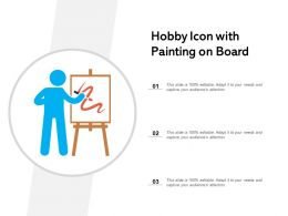 Hobby Icon With Painting On Board