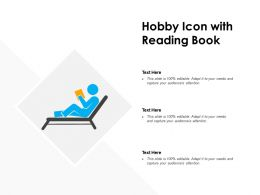 Hobby Icon With Reading Book