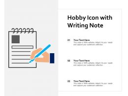 Hobby Icon With Writing Note
