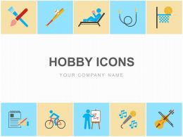 Hobby Icons Art Reading Jumping Basket Writing Sport Painting