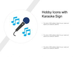 Hobby Icons With Karaoke Sign