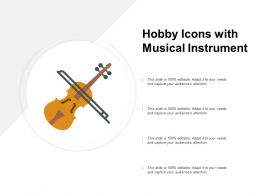 Hobby Icons With Musical Instrument
