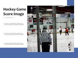 Hockey Game Score Image
