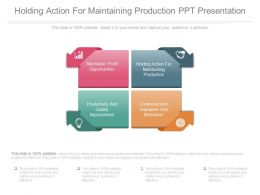 Holding Action For Maintaining Production Ppt Presentation