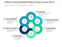 Holding Company Marketing Strategy Including Customer Service