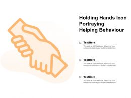 Holding Hands Icon Portraying Helping Behaviour