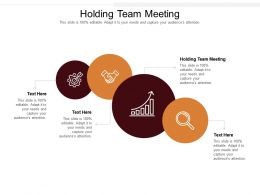 Holding Team Meeting Ppt Powerpoint Presentation Show Templates Cpb