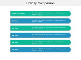 Holiday Comparison Ppt Powerpoint Presentation Outline Picture Cpb