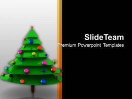 Holidays Christmas Background Tree With Bells Celebration Time Templates Ppt For Slides Powerpoint