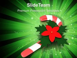 Holidays Christmas Carol Candy Cane Templates Ppt Backgrounds For Slides Powerpoint