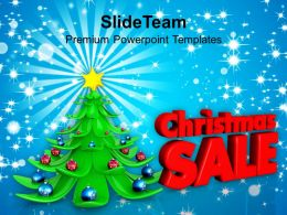 Holidays Christmas Tree Sale On Events Shopping Powerpoint Templates Ppt Backgrounds For Slides