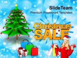 Holidays Christmas Tree Sale Shopping Winter Powerpoint Templates Ppt Backgrounds For Slides