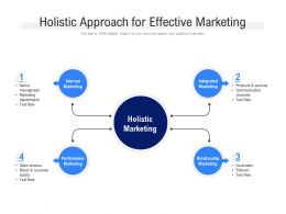 Holistic Approach For Effective Marketing