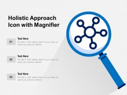 Holistic Approach Icon With Magnifier